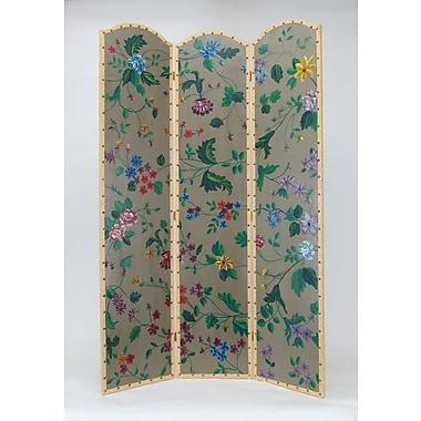Wayborn 72'' x 48'' Vibrant Floral 3 Panel Room Divider