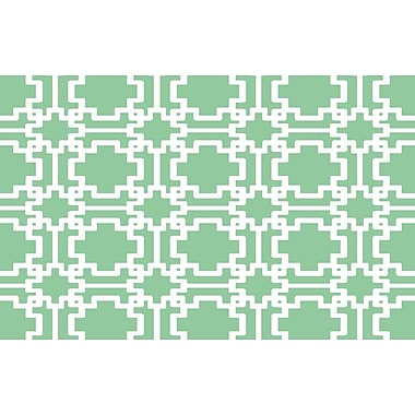 Manual Woodworkers & Weavers Modern Geometric Mint Rug; 5'10'' x 4'4''