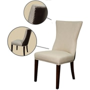 New Pacific Direct Casey Parsons Chair (Set of 2); Flax/Vintage Coffee