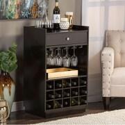 Wholesale Interiors Baxton Studio 15 Bottle Tabletop Wine Bar