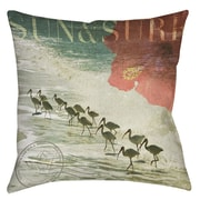 Manual Woodworkers & Weavers Sun and Surf Printed Throw Pillow; 20'' H x 20'' W x 5'' D
