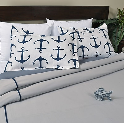 Brite Ideas Living Solid Storm Duvet Cover Set; Queen WYF078279161087