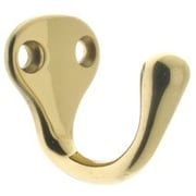 idh by St. Simons Solid Brass Single Wall Hook