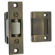 idh by St. Simons Solid Brass Heavy Duty Silent Roller Latch w/ Square Strike; Antique Brass