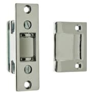 idh by St. Simons Solid Brass Heavy Duty Silent Roller Latch w/ Square Strike; Polished Chrome