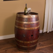 Napa East Collection Wine Barrel Bar w/ Bar Cabinet