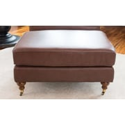 Elements Fine Home Furnishings Athens Leather Ottoman