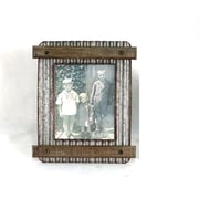 Wilco Home Smokey Cabin Corrugated Tin Tabletop Picture Frame
