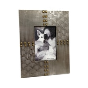 Wilco Home Wood Rivet Tabletop Picture Frame