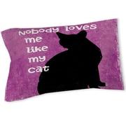 Manual Woodworkers & Weavers Nobody Loves Me Like My Cat Sham; Twin