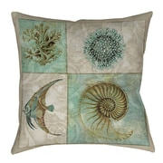 Manual Woodworkers & Weavers Sea Life Printed Throw Pillow; 18'' H x 18'' W x 5'' D