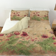 Manual Woodworkers & Weavers Floral 1 Duvet Cover; King