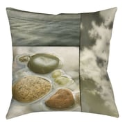 Manual Woodworkers & Weavers Natural Elements 3 Printed Throw Pillow; 18'' H x 18'' W x 5'' D