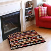 Manual Woodworkers & Weavers Fire House Stripe Pet Bed; 40'' L x 30'' W