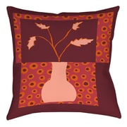 Manual Woodworkers & Weavers Minimalist Flowers 2 Printed Throw Pillow; 18'' H x 18'' W x 5'' D