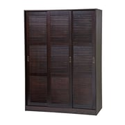 PalaceImports Three-Sliding Door Armoire; Java