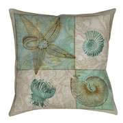 Manual Woodworkers & Weavers Sea Life 1 Printed Throw Pillow; 20'' H x 20'' W x 5'' D