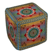 Manual Woodworkers & Weavers Mexican Summer Ottoman