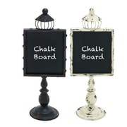 ABCHomeCollection Free Standing Chalkboard (Set of 2) by