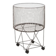 ABCHomeCollection Rolling Wire Basket
