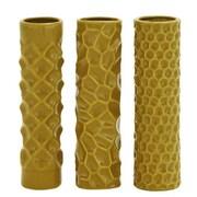 ABCHomeCollection 3 Piece Modern Reflections Decorative Tower Vase Set