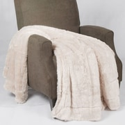 BOON Throw & Blanket Oversized Double Sided Faux Fur Throw Blanket; Beige