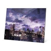 Click Wall Art Violet Dusk Cityscape Graphic Art; 16'' H x 20'' W x 0.75'' D