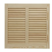 Shutters By Design 74'' W Pine Bermuda / Bahama Shutter (Set of 2); 108'' H x 74'' W