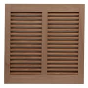 Shutters By Design 74'' W Mahogany Bermuda / Bahama Shutter (Set of 2); 74'' H x 74'' W