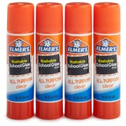 Elmer's All Purpose School Glue Sticks, Clear, Washable, 4 Pack