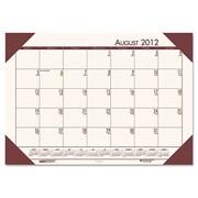 House of Doolittle HOD012541 Desk Pad  Brown Holder-Cream Paper (HSODL003)