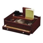 Mele & Co.  Davin Men's Dresser Top Valet in Dark Burlwood Walnut (MELE298)