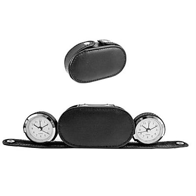 Natico DUAL TIME ALARM CLOCK IN CASE (NOI243)
