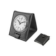 Natico  FOLDING ALARM CLOCK  BLACK (NOI244)