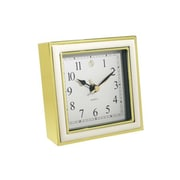 Natico  ALARM CLOCK  WHITE ENAMEL-GOLD (NOI249)