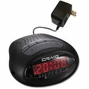 Craig  Dual Digital Alarm Clock With Pll AM & FM Radio - Black (OC0516)