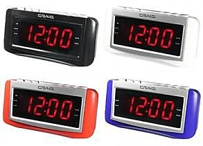 Craig Dual Alarm Clock With 1.2 in. Pll AM & FM Radio - Black (OC0517)