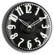 Opal Luxury Time Products  Dome Glass Clock Raised Bold White Figures (OPLX026)