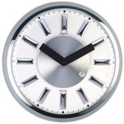 Opal Luxury Time Products  13 In. Stainless Steel Round Case Clock With Dome Glass (OPLX054)