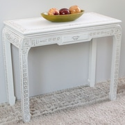 International Caravan Windsor Console Table; Antique White