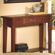 Wildon Home   Traditional Console Table; Red Cherry