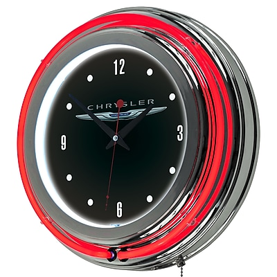 Chrysler Chrome Double Rung Neon Clock (886511977808) 2444354