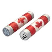 Mota® Tamo Super Lightweight Battery Stick with LED Flashlight, 2200 mAh, Canada Flag (STIK22-CAFLG)