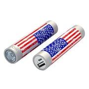 Mota® Tamo Super Lightweight Battery Stick with LED Flashlight, 2200 mAh, US Flag (STIK22-USFLG)