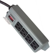 Tripp Lite Waber 6' 4-Outlet Industrial Power Strip, Blue/Gray (UL603CB-6)