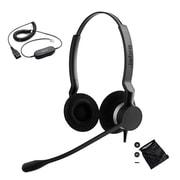 Jabra® Biz™ 2300 230982-88011-119 Duo Corded Headset with Bag & Leather Cushion