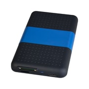 "SIIG® 2TB 2.5"" External Serial ATA/600 Hard Drive with SD Reader Enclosure, Black/Blue (JU-SA0S12-S1)"