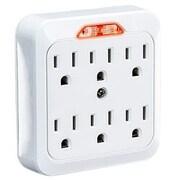 Cyberpower® GT600L NEMA 5-15P to NEMA 5-15R Straight Power Strip, White