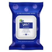 Yes to™ Hypoallergenic Facial Wipes, Blueberries, 25 Count, 3/Pack (7331102-3-KIT)