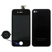 4XEM™ Replacement LCD Screen/Touch Digitizer/Back Cover Kit for Apple iPhone 4/4S, Black (4X44SCOVERBK)